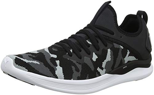 Puma Herren Ignite Flash CAMO Laufschuhe, Schwarz Black-Iron Gate-Quarry 02, 43 EU