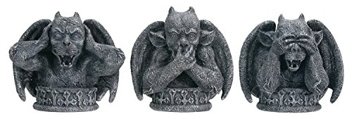 YTC Summit International See No Evil Hear No Evil Speak No Evil Gargoyles Figurine Set of 3 Gothic Décor