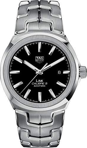 Tag Heuer Link 41mm nero quadrante orologio da uomo WBC2110.BA0603