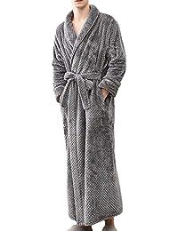 POLP Albornoz Hombre Mujer Parejas Unisex Casa Albornoz Mujer Ducha Bata de Baño Ropa de baño Pijamas de una Pieza Batas Albornoz para…