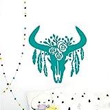 sticker mural Crâne De Taureau Avec Plumes Ménage Design Home Decor Animal