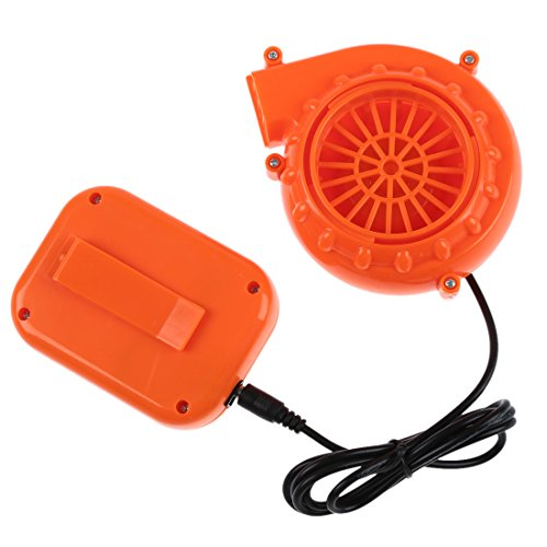 CUHAWUDBA Mini Ventilator Geblaese Fuer MascotHead Aufblasbares Kostuem 6V Angetrieben 4 x AA Trockene Batterie Orange