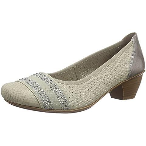 Rieker47686 Women Closed-Toe - Scarpe con Tacco Donna
