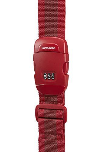 SAMSONITE Global Travel Accessories - Luggage Strap With Lock Gepäckgurt, 190 cm, 1 Liter, Orange - Lock Luggage Strap