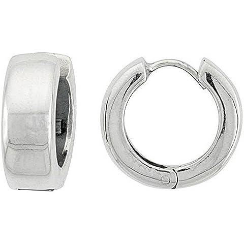 Touch Jewellery-orecchini Huggie, in argento (Plain Huggie Orecchini)