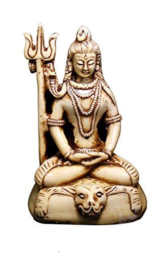 Indio Tallada mano meditando estatua Dios Shiva Escultura