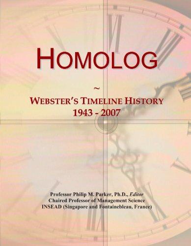 Homolog: Webster's Timeline History, 1943 - 2007