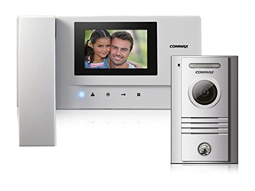 """COMMAX Favorable kit of a 3.5"""" handset videophone and a modern door camera, DC, white"""