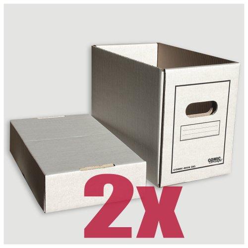 Comic Concept Comic-Box (kurz) 2er-Pack aus stabilem Karton