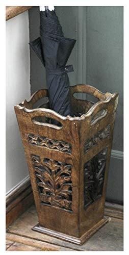 Classico portaombrelli in legno, stile art deco
