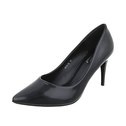 Women's Court Shoes Stiletto Classic Heels Black Size 3.5 UK