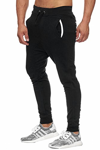 BELLIS® Herren Jogginghose Sweatpants Birds 20119 Black