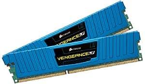 Corsair CML16GX3M2A1600C10B Vengeance Low Profile 16GB (2x8GB) DDR3 1600 Mhz CL10 XMP Performance Desktop Memory Blau