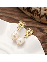 RONSHIN Women Delicate Exquisite Elegant Retro Pearl All Matching Fashionable Earrings