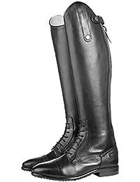 Hkm–Botas de equitación Valencia Corto/Standard Alcance Negro Negro Talla:38 EU