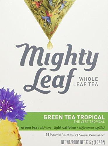 Mighty Leaf Tea Green Tea Tropical | 15 Seiden-Teebeutel | Grüner Tee mit Früchten und Blüten