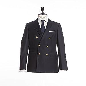 Barutti Blazer Zweireiher Sakko Taziano UK AMF Marineblau Uni Tailored Fit taillierter Schnitt 100% Pure Wool Schurwolle Super 150 S