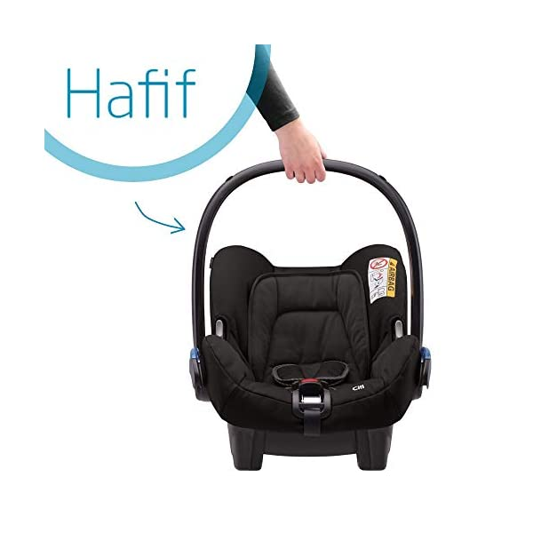 Maxi-Cosi Kinderautositz Citi Black Raven Maxi-Cosi Side protection system, guarantees optimal protection in the event of a side impact Lightweight, light weight and ergonomically shaped safety bar for use as carrying handle Practical travel system 3