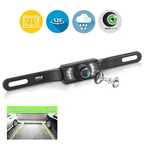 Pyle Rückfahrkamera mit Nummernschildhalter und Nacht Vision Pyle License Plate Mount