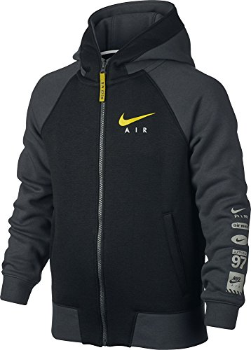 Nike Kinder Air Kapuzen-Sweatshirt, Grau, S (Air Pullover)