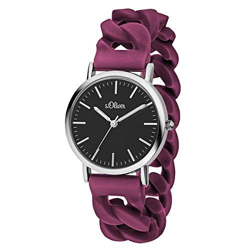 s.Oliver Time Unisex Erwachsene-Armbanduhr SO-3426-PQ