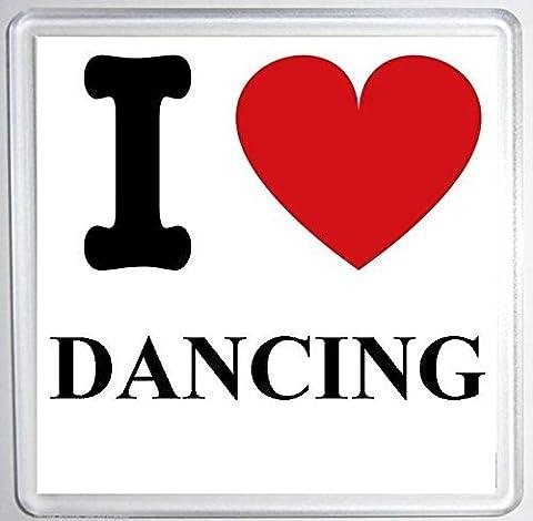 I love Dancing Untersetzer Matte, Fun Geburtstag/Weihnachten Strumpffüller (Dancing Santa Weihnachten)