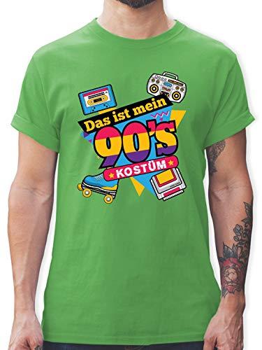 Karneval & Fasching - Das ist Mein 90er Jahre Kostüm - XXL - Grün - L190 - Herren T-Shirt ()
