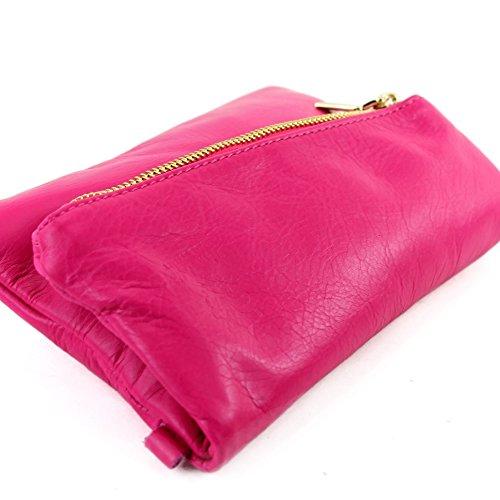 modamoda de -. Borsa ital Borsa piccola in pelle di spalla delle signore sacchetto di frizione polso Bag T95 pelle Pink