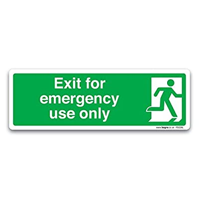 Britischen Standard Fire Exit Richtung Safety Signs selbstklebend Vinyl Aufkleber