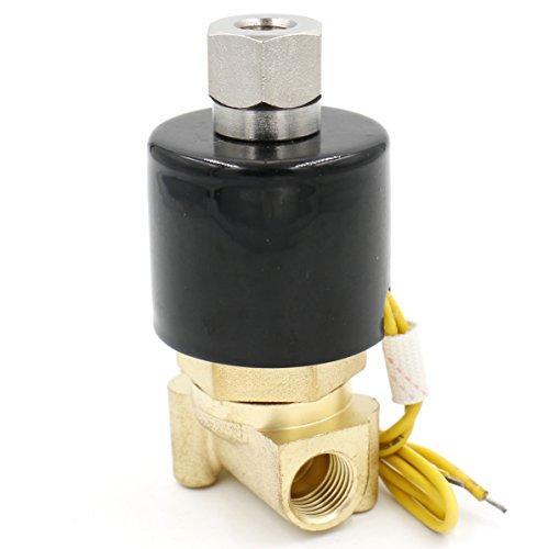 Normalerweise Offene Magnetventil (heschen Messing Elektrisches Magnetventil 2wk025–081/10,2cm AC 220V Direct Action Wasser Air Gas Normalerweise offen)
