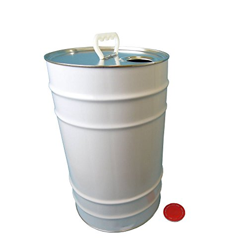25 L Ltr Litre Tin Tinplate Drum Barrel Container Plain with Easy Pour Berg Cap for Storage of Solvent Based Paints, Liquids, Oils, Stains, Chemicals, Adhesives Test