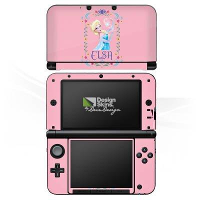 Nintendo 3 DS XL Case Skin Sticker aus Vinyl-Folie Aufkleber Disney Frozen Elsa Fanartikel Geschenke