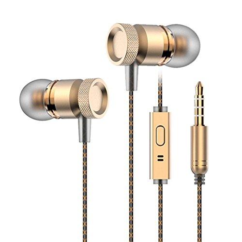 Nuovo Metallo Auricolare In-Ear auricolari delle cuffie con microfono stereo del microfono Bass con 3.5mm compatibile con il formato MP3 MP4 e computer di iPhone Android
