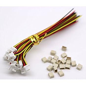 10 Sets Mini Micro Sh 1,0 Jst 3 Pin-Stecker-Stecker