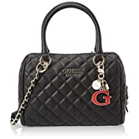 Guess Womens Satchel Bag, Black - VG766705