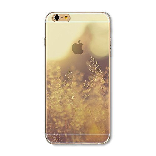 Coque iPhone 6 6s Housse étui-Case Transparent Liquid Crystal en TPU Silicone Clair,Protection Ultra Mince Premium,Coque Prime pour iPhone 6 6s-Paysage-style 5 5