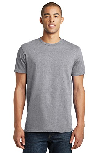 District® - Young Mens The Concert Tee® DT5000 Heather Grey 2XL - Mens Heather Grau