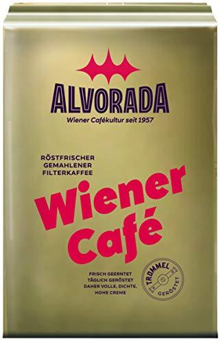 Alvorada Wiener Café | Röstfrischer Gemahlener Filterkaffee | vakuumverpackt | 500 g