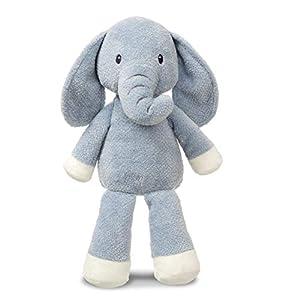 Aurora Elly, 61225, Suave, Azul/Gris y Crema, 14 Pulgadas, Juguete de Elefante blandito, Idea de Regalo, Bluegrey