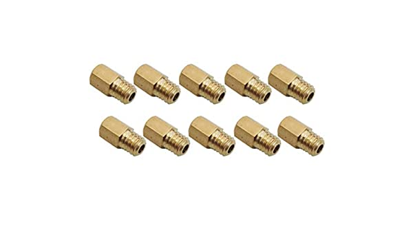 10X of Brass Main Jet For Mikuni VM TM TMX carb 410 420 430 440 450 460 470 480 490 500