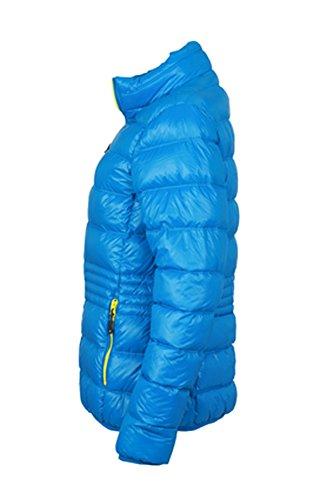 Ladies' Winter Down Jacket im digatex-package azur/yellow