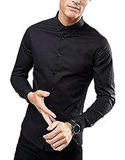MANQ Men's Solid Slim Fit Formal/Party Shirt - 4 Colors