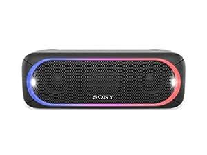 Sony SRS-XB30 Altoparlante Wireless Portatile, Extra Bass, Bluetooth, NFC, USB, Resistente all'Acqua IPX5, Nero