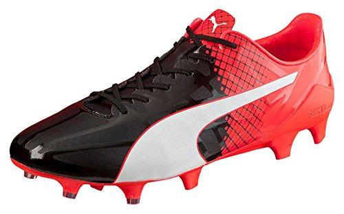 Puma Evospeed Sl-s Ii Fg, Chaussures de Football Compétition Homme noir/blanc/rouge