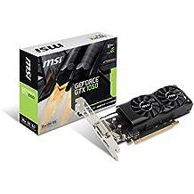 MSI NVIDIA GeForce GTX 10502GT LP Tarjeta gráfica 2GB de memoria GDDR5128bit PCI Express 3–Negro