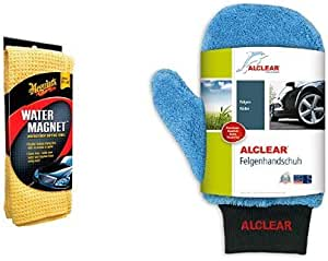Meguiars Me X2000 Water Magnet Microfiber Drying Towel Und Alclear Felgenhandschuh Auto