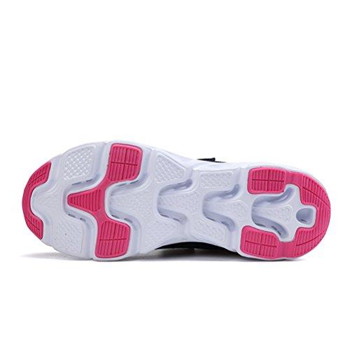 Super Lee Unisex Laufschuhe Sportschuhe mit Klettverschluss Outdoor Fitness Schuhe Hallenschuhe Leichte und Atmungsaktive für Herren Damen 36-44 Blau Rot