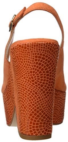 PEDRO MIRALLES Damen 19225 Plateausandalen Orange (Mandarina)