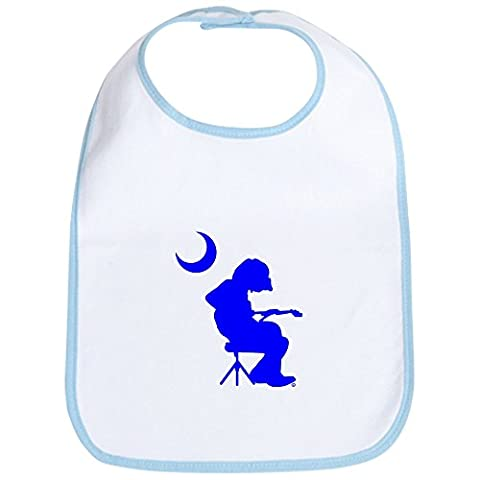 CafePress - Palmetto Flag Mikey Guitar Player Bib - Cute Cloth Baby Bib, Toddler Bib