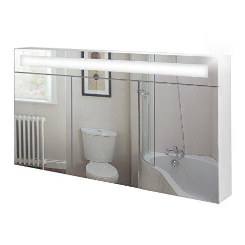 Badspiegelschrank beleuchtet, weiss, inkl. Leuchtmittel